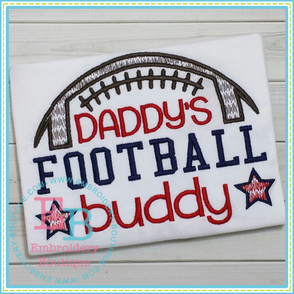 Daddy's Football Buddy Embroidery Design, Embroidery