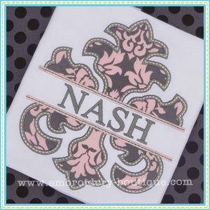 Split Damask Applique