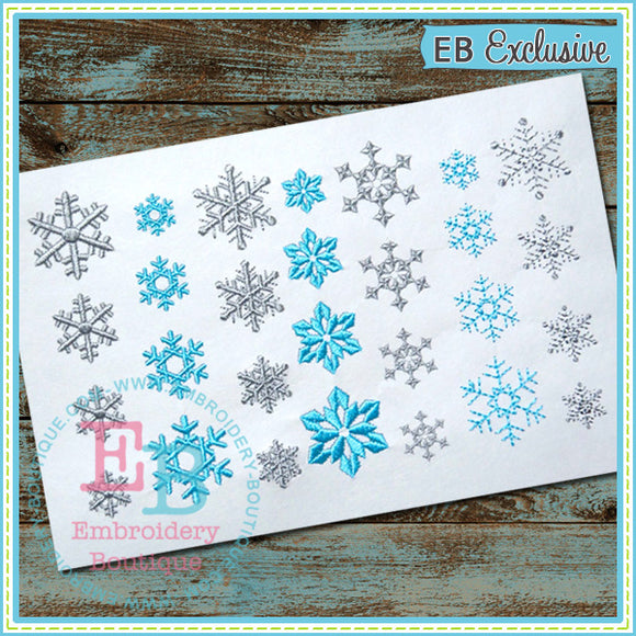 Snowflakes, Embroidery