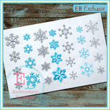 Snowflakes - embroidery-boutique