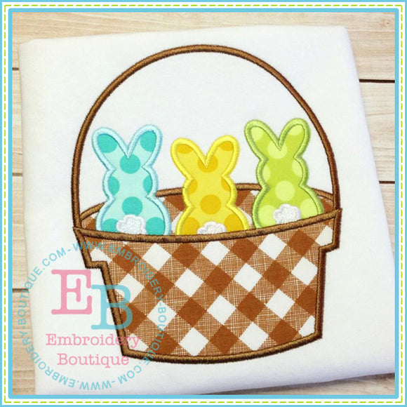 Peeps Basket Applique, Applique