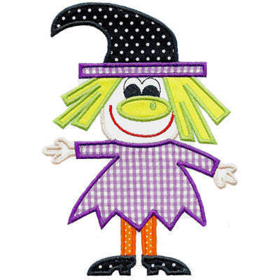 Cute Witch Applique - embroidery-boutique