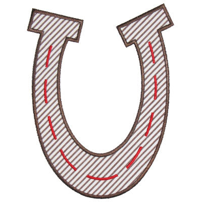 Horseshoe Applique - embroidery-boutique