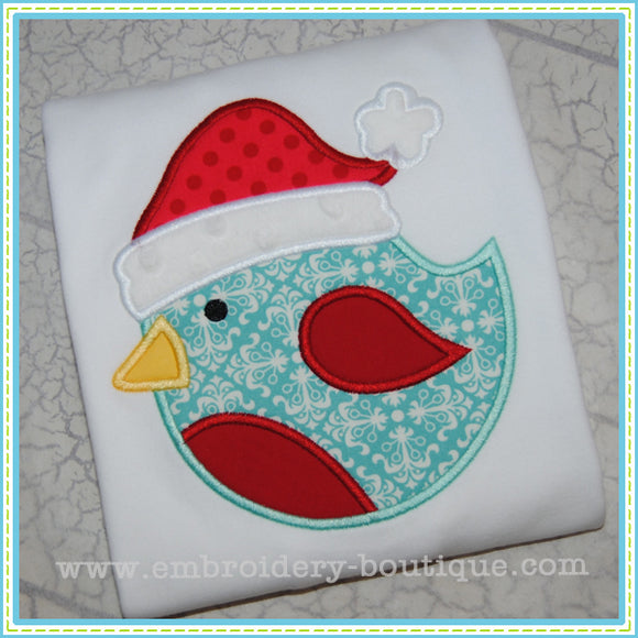 Christmas Bird Applique, Applique