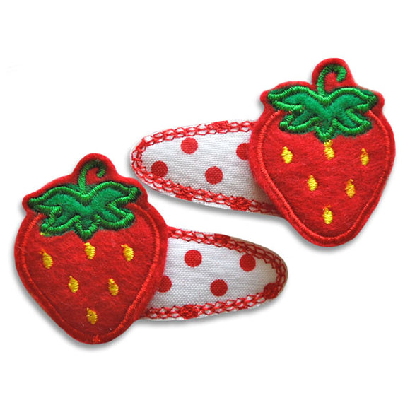 Strawberry Clip Centers - embroidery-boutique