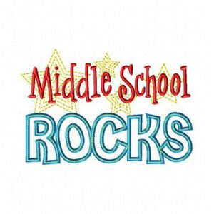 Middle School Rocks - embroidery-boutique