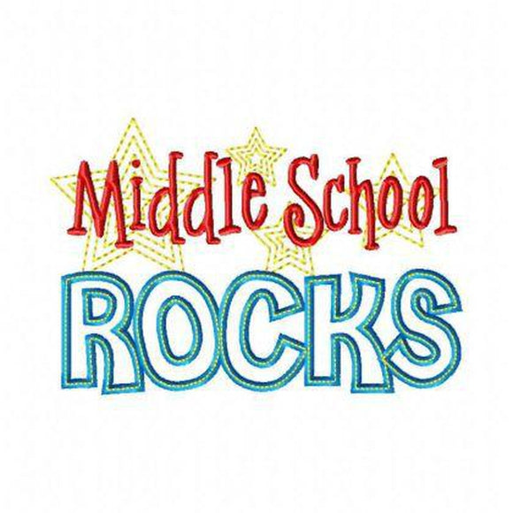 Middle School Rocks, Applique