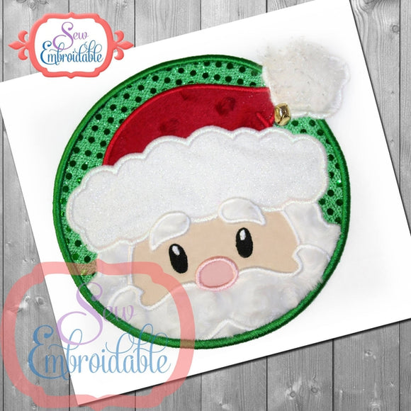 Santa Circle Applique