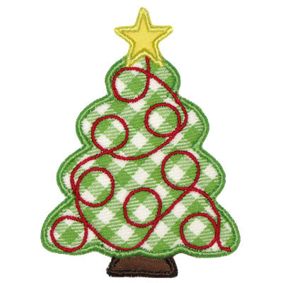 Garland Tree Applique - embroidery-boutique