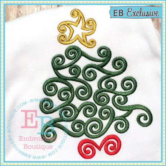 Swirled Tree - embroidery-boutique