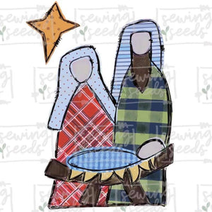 Christmas Nativity PNG Printable - Sewing Seeds