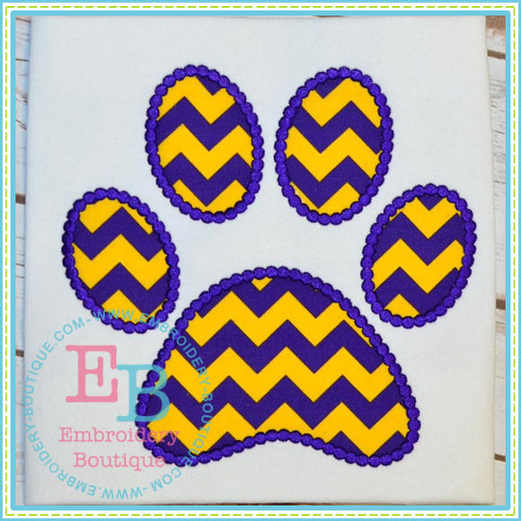Dotted Paw Print Applique