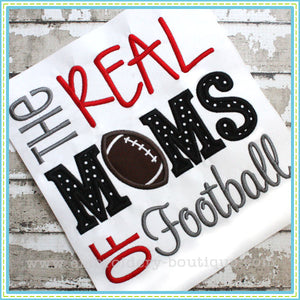 Real MOMS of Football Applique, Applique