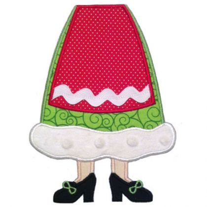 Mrs Claus Legs Applique - embroidery-boutique