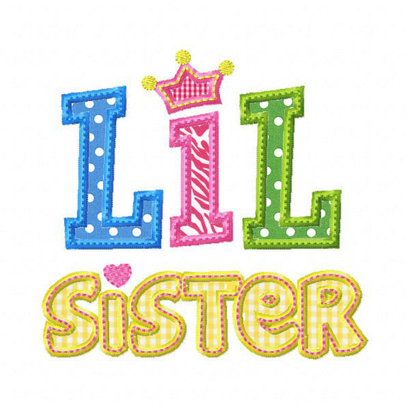 Lil Sister 2 Applique - embroidery-boutique