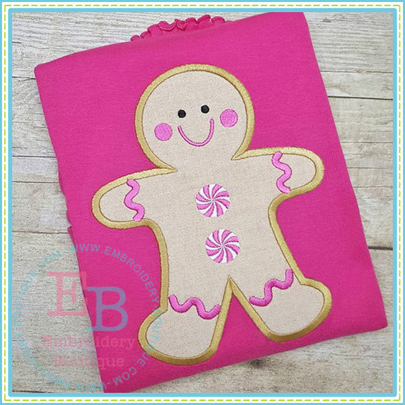 Peppermint Gingerbread Applique