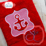 Embossed Anchor Applique