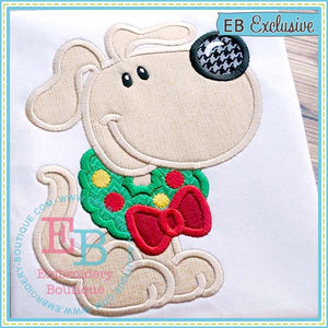 Wreath Dog Applique