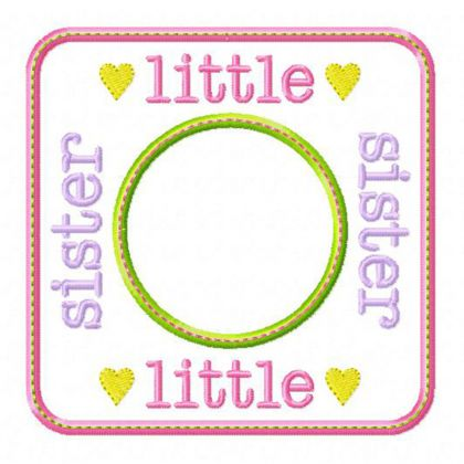 Little Sister Blank Patch - embroidery-boutique