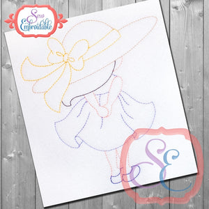 Sunbonnet Sue Back Embroidery Design - embroidery-boutique