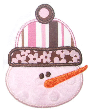 Snowman Face Applique - embroidery-boutique