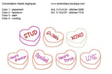 Conversation Hearts Applique Set