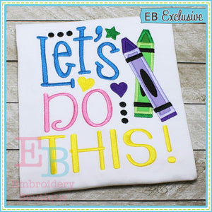 Let's Do This Design - embroidery-boutique