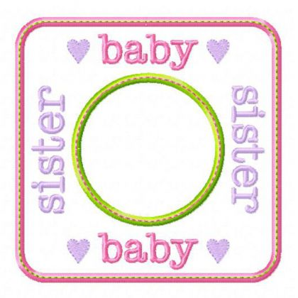 Baby Sister Blank Patch - embroidery-boutique