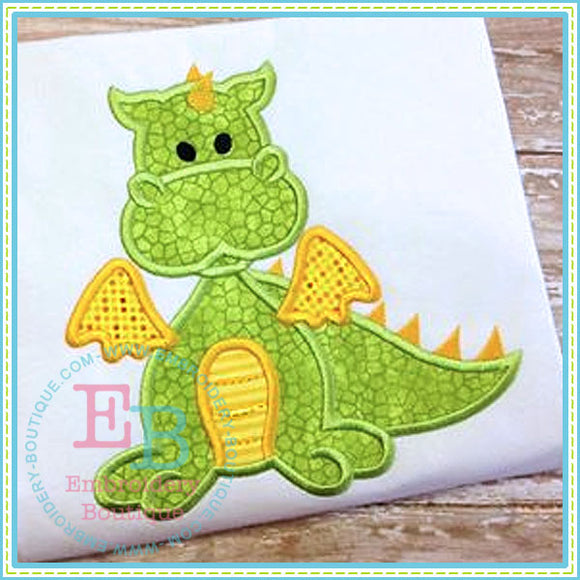 Boy Dragon  Applique, Applique