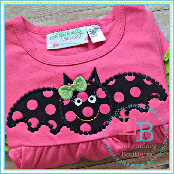 Dotted Bat Applique - embroidery-boutique
