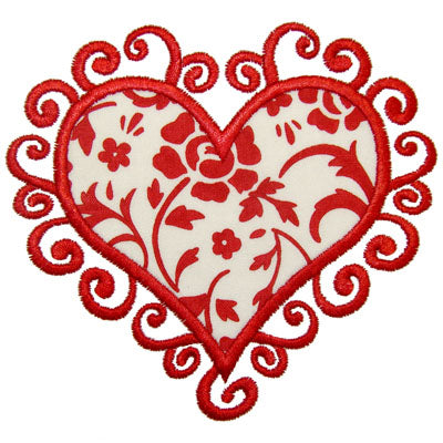 Scroll Heart Applique - embroidery-boutique