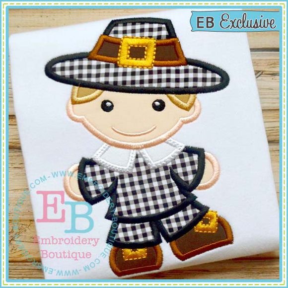 Pilgrim Boy Applique, Applique