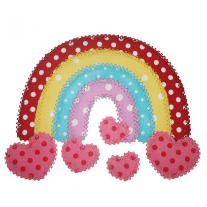 Rainbow with Hearts Applique - embroidery-boutique