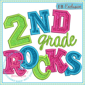 Second Grade Rocks 2 Applique