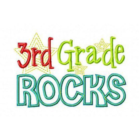Third Grade Rocks, Applique