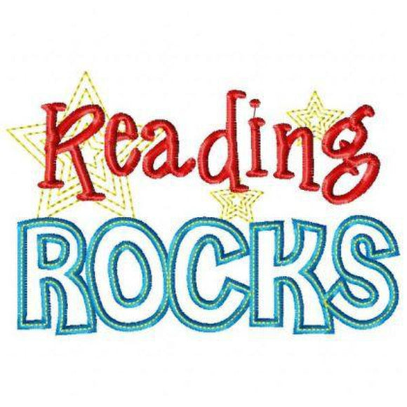 Reading Rocks, Applique