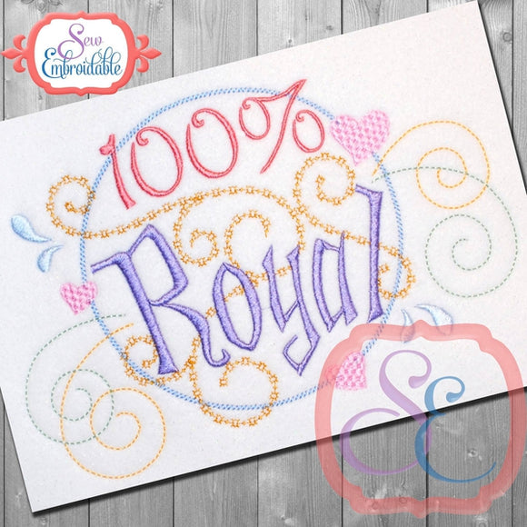 100% Royal Embroidery Design, Embroidery