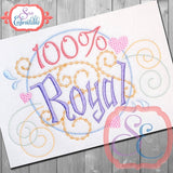 100% Royal Embroidery Design
