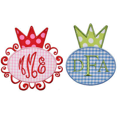 Crown Monogram Frame - embroidery-boutique