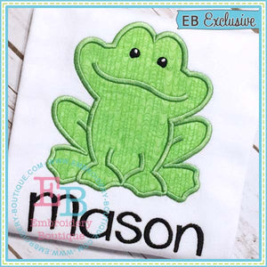 Boy Frog Applique, Applique