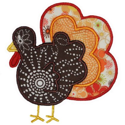 Simply Cute Turkey - embroidery-boutique