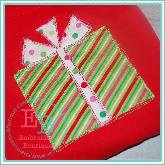 Scribble Present Applique - embroidery-boutique