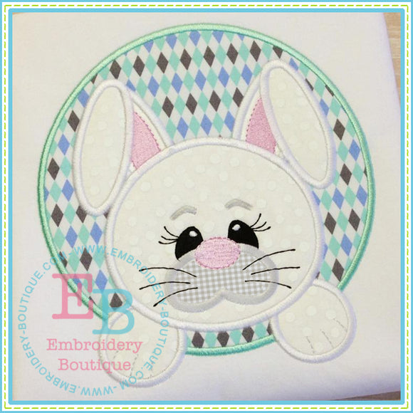 Bunny Face Boy Applique, Applique