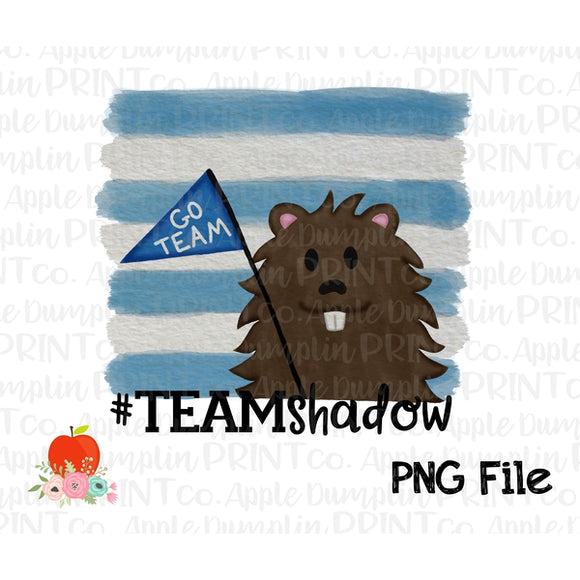 Groundhog Team Shadow Boy Watercolor Printable Design PNG - embroidery-boutique