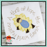 A Thrill of Hope, Baby Jesus, Zigzag Applique Design