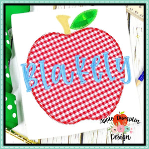 Apple Zigzag Applique Design, applique