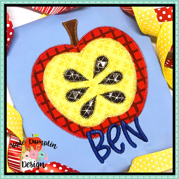 Apple Zigzag Applique Design