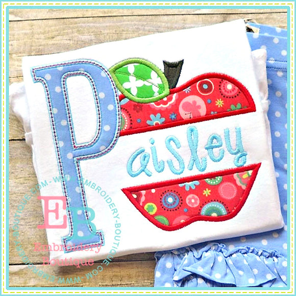 Apple Applique Alphabet, Applique Alphabet
