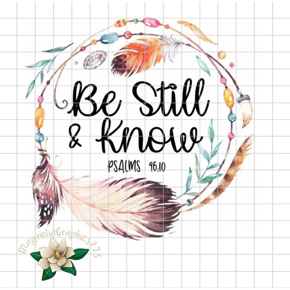 Be Still and Know Psalm 46:10 PNG