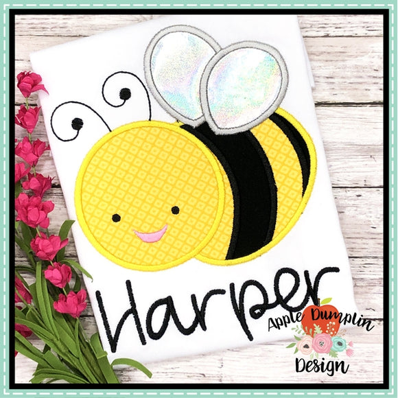 Honey Bee Applique Design